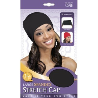 Large Spandex Stretch Cap-Black