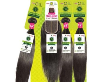 Janet Collection Brazilian Hair 3 Bundles with 4X4 Closure – Straight